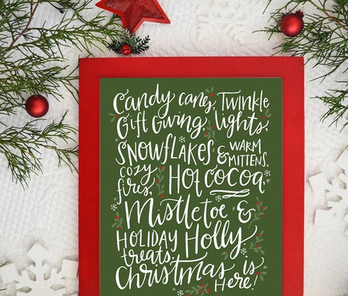 Christmas is here! Holiday Art Print