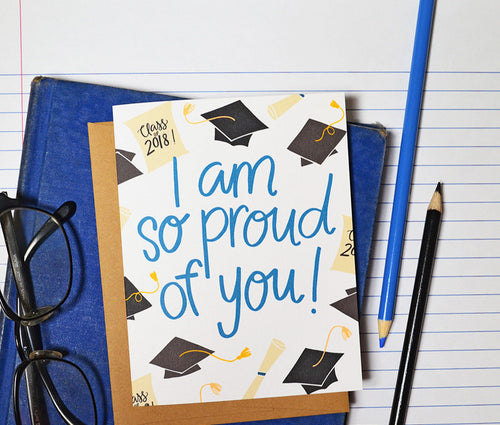 I am so proud of you Graduation card