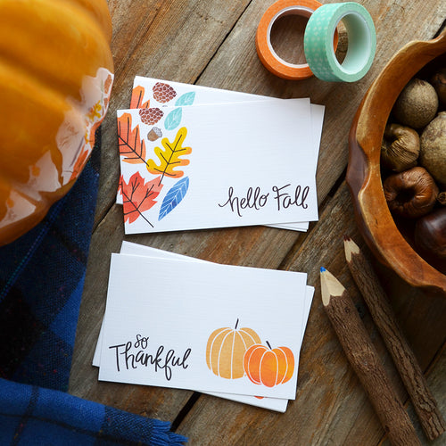 Happy Fall / So Thankful mini cards