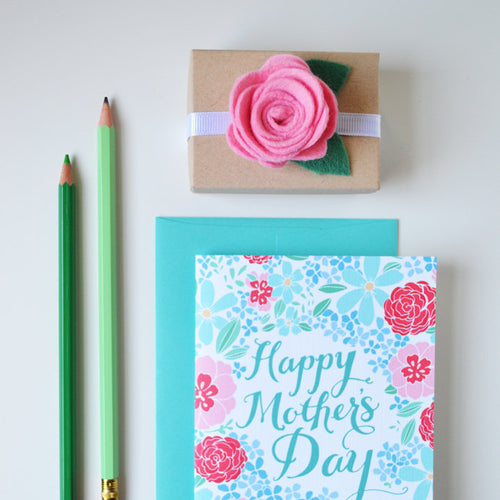 Happy Mother's Day blue hydrangeas card