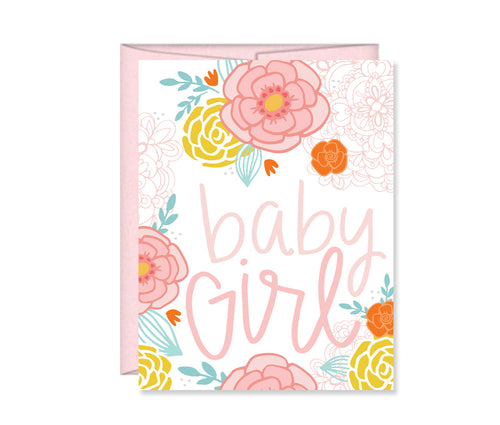 It's a Girl Baby Shower card