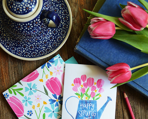Oh Happy Day set of four spring cards
