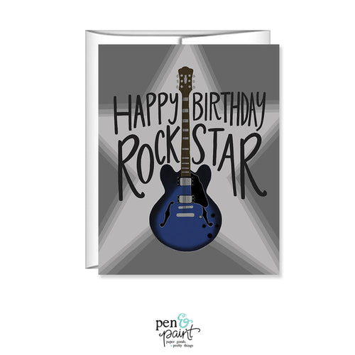 Happy Birthday Rockstar, Guy's birthday card, Greeting Card