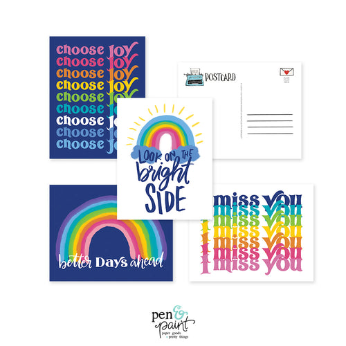 Choose Joy postcard set - 8 postcards