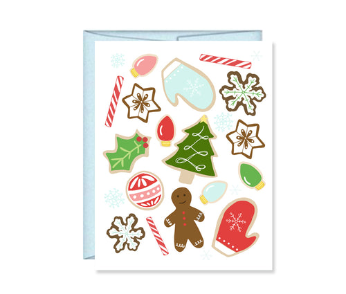 Christmas cookies card