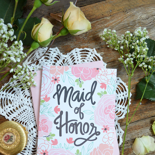 Maid of Honor Card card