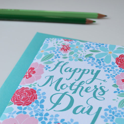 Happy Mother's Day blue hydrangeas card MF2202