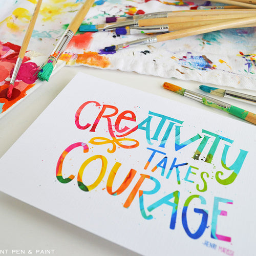Creativity takes Courage art print
