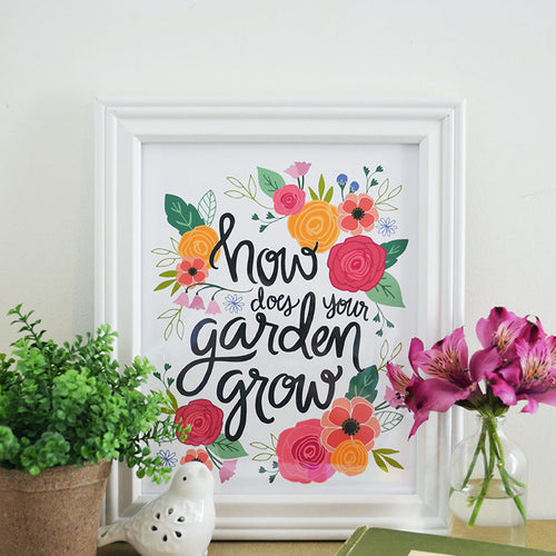 How Does Your Garden Grow, Spring Floral Print