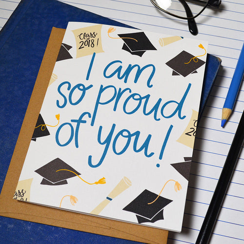 I am so proud of you 2019 Graduation card