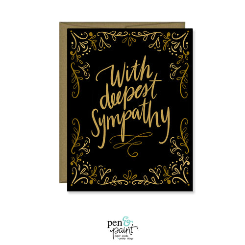 With Deepest Sympathy, I'm Sorry for Your Loss card, Sympathy Card