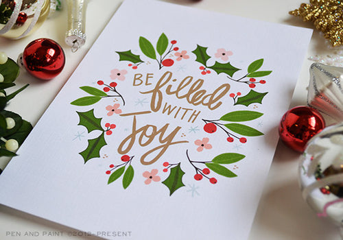 Be Filled with Joy Art Print