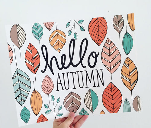 Hello Autumn Fall Art Print