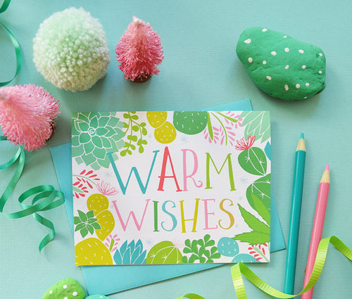 Warm Wishes Greeting Card