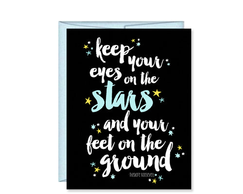 Keep Your Eyes on the Stars Card