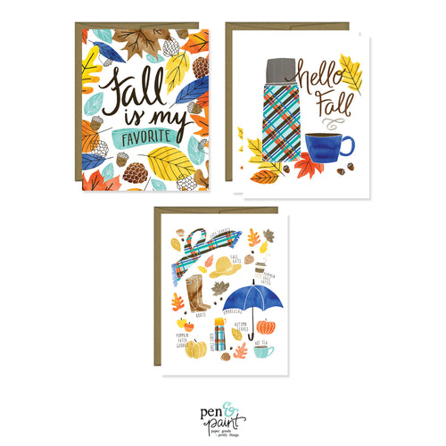 Fall is my Favorites note card set of four