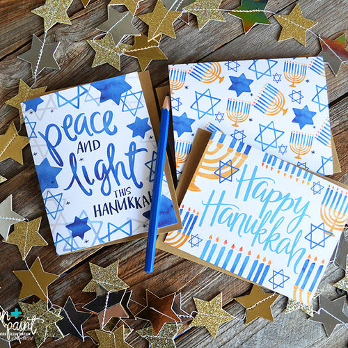 Happy Hanukkah set of four cards
