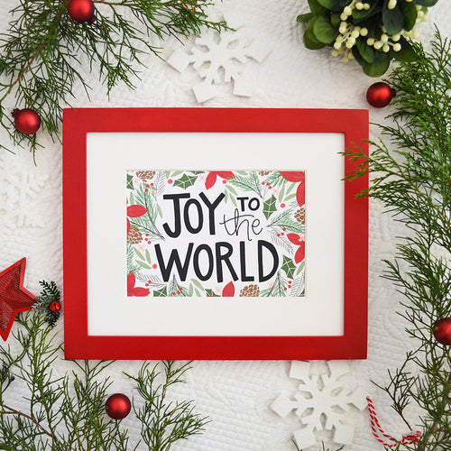 Joy to the World Christmas Art Print