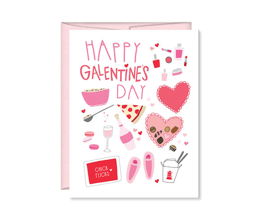 Happy Galentine's Day Girls Night card