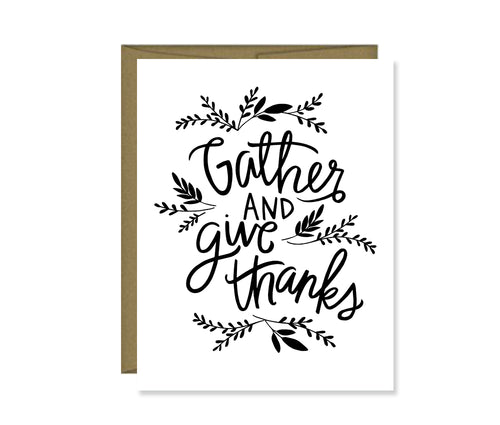 Gather and Give Thanks Card