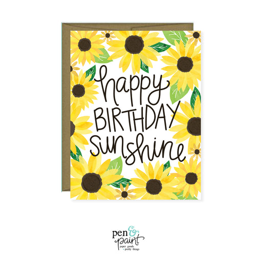 Happy Birthday Sunshine Sunflowers card