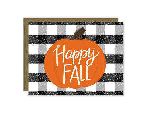 Happy Fall Pumpkin Plaid card