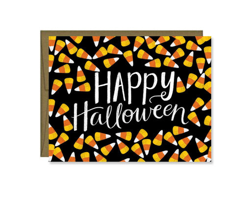 Happy Halloween candy corn card