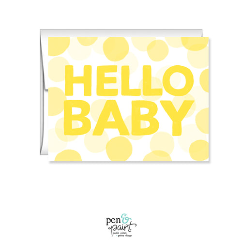 Hello Baby, Baby Shower card
