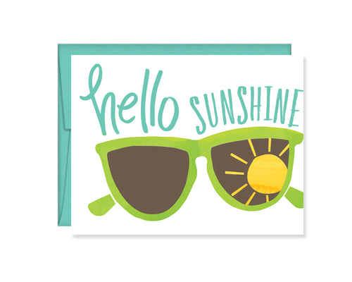 Hello Sunshine Sunglasses card