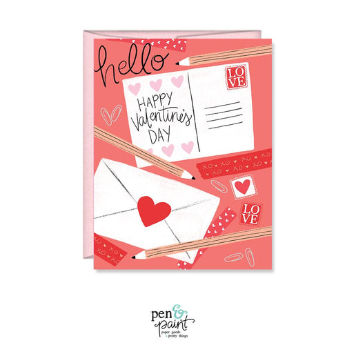 Hello Valentine, Happy Valentine's Day card