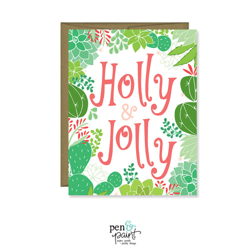 Holly Jolly Cactus Card