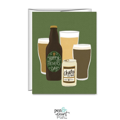 Hoppy Father's Day - beer Father's Day card