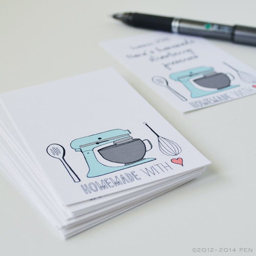 Homemade with Love Mixer Mini Cards