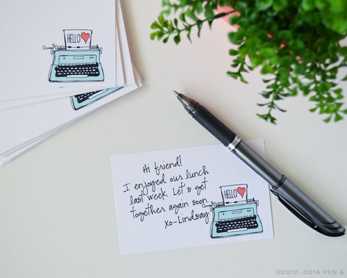 Mini Typewriter Cards