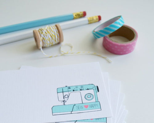 Sewing Machine Mini Cards