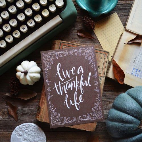 Live a Thankful Life Seasonal Art Print