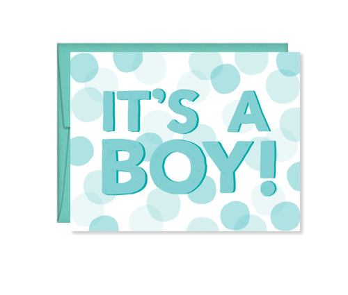 It's a Boy, Baby Shower card