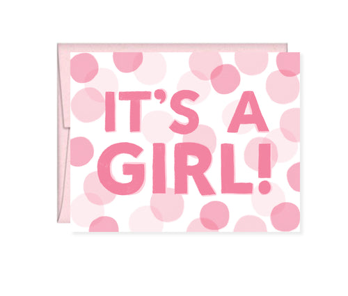 It's a Girl, Baby Shower card