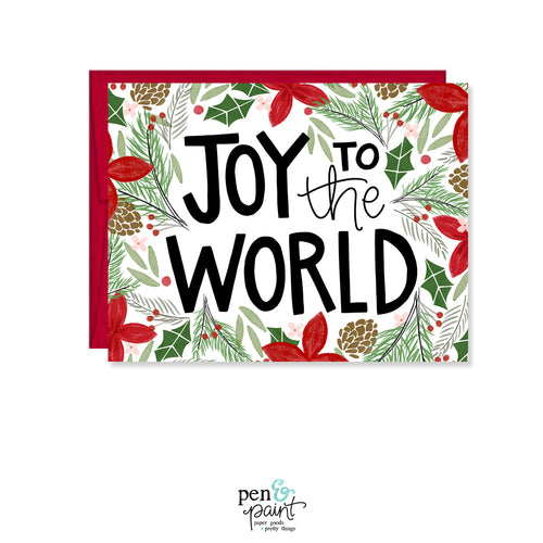 Joy to the World Christmas Card