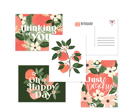 Just Peachy postcard set - 8 postcards