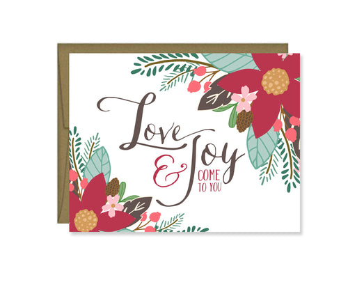 Love & Joy holiday card