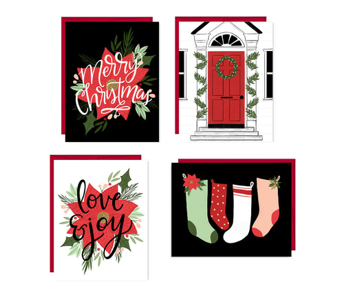 Love & Joy set of four holiday cards