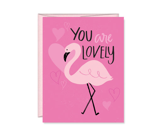 You are Lovely Flamingo card