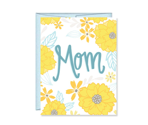 Mom, Mother's Day Card Floral MF840