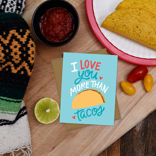 I love you more than tacos car