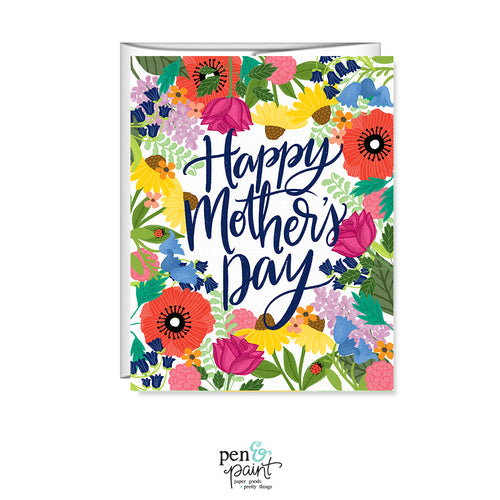 Happy Mother's Day Flower Garden, Mother's Day Card MF310