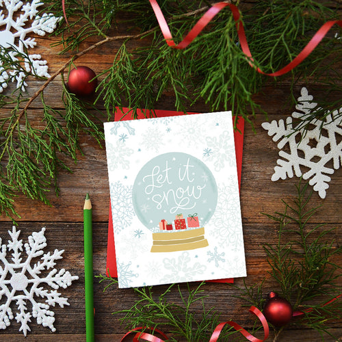 Let it Snow Globe Card