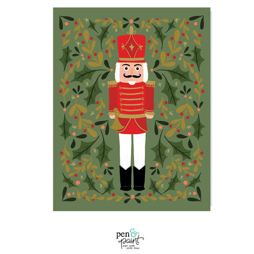 Nutcracker Christmas - Art Print
