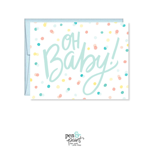 Oh Baby! Baby Shower card