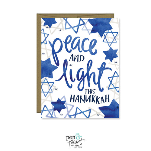 Peace & Light this Hanukkah card